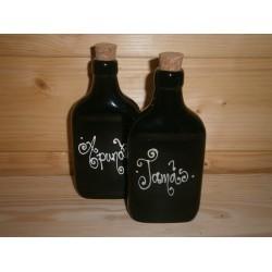 Lapos kerámia butella